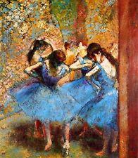 Edgar Degas Blue Dancers Giclee Fine Art Canvas Print 8''x10''