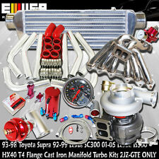 Toyota Supra 2JZ-GTE HX40+Manifold+50MM bov+GAUGE+INTERCOOLER KITS Turbo Kit