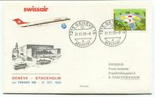 FFC 1988 Swissair Special Flight Geneve Stockholm Aeroport Helvieta Crox Rouge