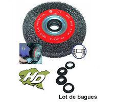 brosse métallique circulaire pour touret diamètre 125mm + bagues