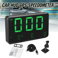 Car Digital HUD GPS Speedometer Head-up Display Overspeed MPH KM/H Warning Alarm