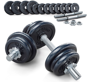 Dumbbell Set 2 x 12 kg -Adjustable 24 kg Condition is NeW Train Biceps Gym IRON