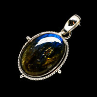 "Labradorite 925 Sterling Silver Pendant 1 1/2"" Ana Co Jewelry P710219F"