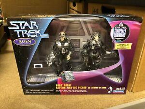 Boxed STAR TREK Next Gen Borg Locutus Action Figure ALIEN Gift Set PLAYMATES '99