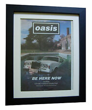 OASIS+Be Here Now+POSTER+AD+RARE ORIGINAL 1997+FRAMED+EXPRESS GLOBAL SHIP