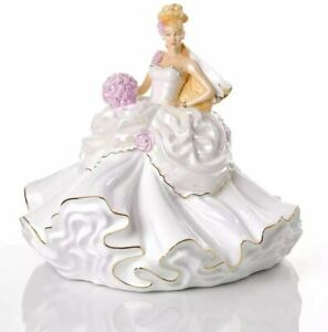 THE ENGLISH LADIES CO GYPSY WEDDING DREAMS LGE BRIDE BLONDE FIGURE AND FREE GIFT