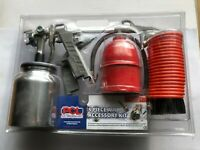 5 Piece PCL Metal Air Tool Accessory Kit AK015M Blow Gun Tyre Inflator Spray Gun