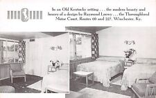 A74/ Winchester Kentucky Ky Postcard c1940s Thoroughbred Motor Court Interior