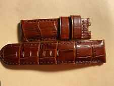 Panerai Original Brown Croc Leather Strap 24MM fits on the 44mm Panerai Watch