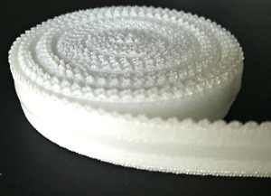 Bra Making. Silicone Backed/ Gripper Elastic. 12-14mm Wide. White Colour