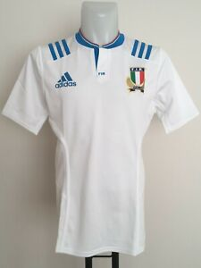 ITALY RUGBY 2015-16 S/S PLAYER FIT ALTERNATIVE JERSEY BY ADIDAS SIZE MEN'S L/XL