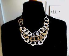 NUOVO CON £ 28 prezzo FCUK MARTELLATA organici oro e argento anello collana.