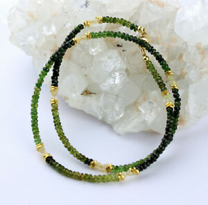 Green Tourmaline With Opal Necklace Precious Stone Verdelith Welo Color Game