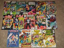 18-book lot X-Men Ghost Rider Deathlok Avengers Punisher + NM Marvel Comics
