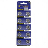 10PCS AG13 LR44 SR44 L1154 357 A76 Alkaline batteries button cells FOR WATCH