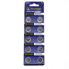 10x AG13 LR44 SR44 L1154 357 A76 Alkaline batteries button cells FOR watch NEW