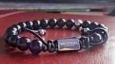 AUTHENTIC NORTHSKULL black onyx asymmetrical bracelet silver NEW