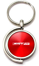 Red Dodge SRT8 Logo Brushed Metal Round Spinner Chrome Key Chain Spin Anello