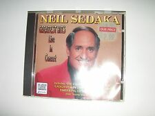 NEIL SEDAKA CD GREATEST HITS LIVE IN CONCERT!