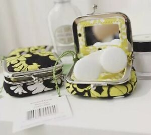 NWT Vera Bradley Baroque Quilted Kiss Lock Contact Lens Mirror Travel Case