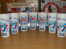 Vintage MLB All Star Game Toronto Blue Jays Logo 24oz. Plastic Icee Cup Lot of 7