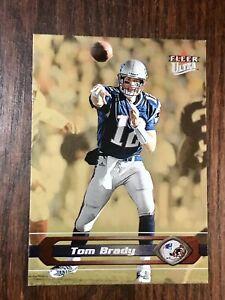 2002 Ultra Tom Brady GOLD MEDALLION #181 SP 7 Time Super Bowl Winner & MVP