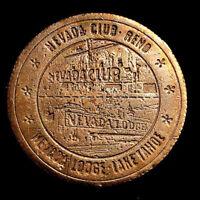 1965 Nevada Club / Nevada Lodge Casino $1.00 Token  (Reno -Lake Tahoe)