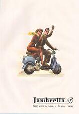 PUBBLICITA' 1949 LAMBRETTA 125 B GABBIO & VICO TORINO VIAGGIO MOTO SCOOTER
