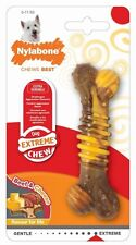Nylabone Extreme Chew Nylon Chewing Bone Toy for Dogs in 3 Sizes Beef and Cheese