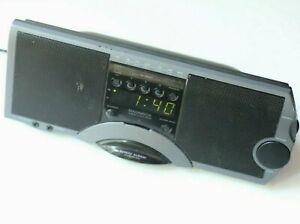Magnavox AJ3710/17 stereo clock radio AM/FM alarm black line-in headphone jacks