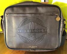 4a4bb95121 Ted Baker Black Faux Leather Embossed Despatch Messenger Briefcase Travel  Bag