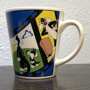 Sylvester The Cat & Kitten Son Warner Brothers 1999 Ceramic 12 oz Cup / Mug