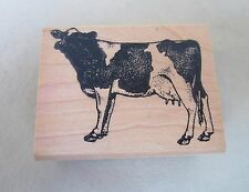 """Craft Rubber on Wood Stamp by """"Rubber Stamps of America"""" Black & White Cow Cute!"""