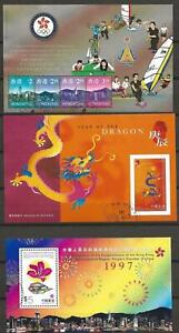 Hong Kong - 3 Nice Sheets - Cancelled