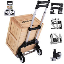 Folding Hand Truck Aluminum Portable Luggage Cart Hand Cart Heavy Duty