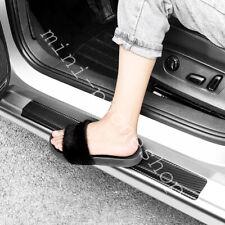 4PCS BLACK Carbon Fiber Car Door Scuff Sill Cover Panel Step Protector For Jeep