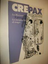 GUIDO CREPAX:VALENTINA N.5.MARIANNA/GIOCO/MANGIATRICE TEMPO.BLUE PRESS 1994