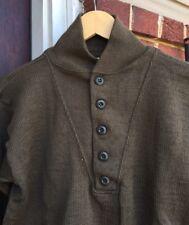 Vintage 1974's Vietnam War US Army Military OD Men's 100% Wool Uniform Sweater.