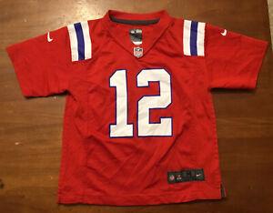 Tom Brady NFL Toddler New England Patriots Nike Navy Red Game Jersey Size Medium