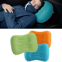 Inflatable Pillow Travel Air Cushion Camping Beach Car Auto Plane Head Rest