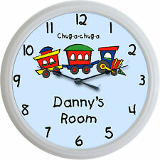 Train Caboose Custom Personalized Wall Clock Choo Choo a Child Nursery New 10""
