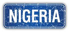 Nigeria Grunge Stamp Car Bumper Sticker Decal 6'' x 3''
