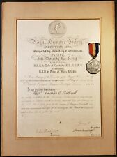 KING GEORGE V AUTOGRAPH HAND SIGNED CERTIFICATE 1904 & SILVER JUBILEE MEDAL 1935