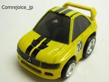 Chibikko Choro Q TAKARA MITSUBISHI LANCER EVOLUTION VII No.5 Yellow USED F/S