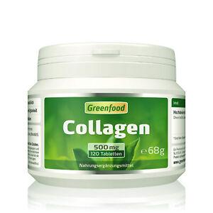 Greenfood Collagen, 500mg, hochdosiert, 120 Tabletten