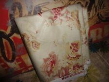 "RALPH LAUREN VINTAGE FLORAL CHINTZ RED CREAM FABRIC 187 X 54"" (5.19YDS)"