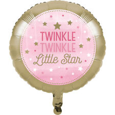 Twinkle Little Star Rose-Foil Balloon-Baby Shower Party Supplies