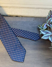 POLO RALPH LAUREN Red White Blue Flowers Floral Woven Silk Twill Vintage Tie USA