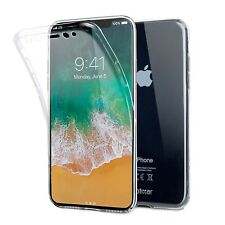 iPhone X Full Cover Case - Clear - Olixar FlexiCover - 360 Front + Back Prote...