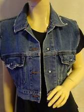 Unisex Men Woman's  KSUBI   Denim Sleeveless Jacket  Vest - Size Large -